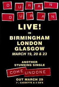 Hamburg birmingham uk live tour dates poster duran duran discogs wikipedia