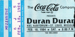 Wiki wikipedia duran duran band ticket stub Kiel Auditorium St Louis MI USA