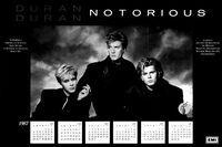 Poster duran duran 1987 calendar
