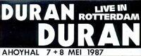 Duran Duran Live in Rotterdam Ahoy arena wikipedia sticker