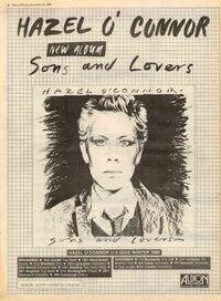 Hazel o'connor tour album poster 1980