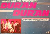 Duran Duran 1981 Promo Poster Dance Into The Future Capitol Harvest Records wikipedia