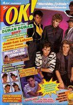 Ok n°497 du 22 juillet 1985 duran duran balavoine lavoine torr u2 sting mercury france wikipedia
