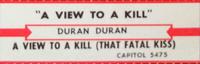 A view to a kill duran duran duran jukebox