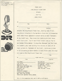 Rock radio sheet
