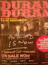 Poster Perth- Australia 2012 duran duran