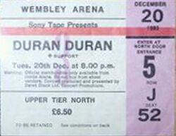 Wembley Arena, London (UK) - 20 December 1983 - The Sing Blue Silver Tour duran duran wikipedia stub