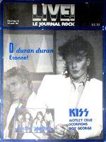 Live Le Journal Rock Magazine Canada (14 April 1984) wikipedia duran duran