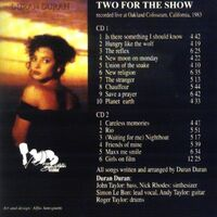 Two For The Show DURAN DURAN WIKIPEDIA 1