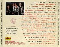 Duran Duran – World Broadcast bootleg wikipedia CD 1