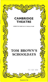 Cambridge theatre tom brown's schooldays simon le bon duran duran 1972