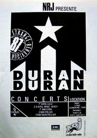 Poster paris 1987 duran duran
