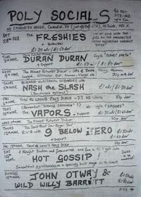 Manchester poly flyer 1981 duran duran
