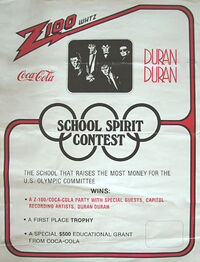 Z100 whtz radio coco cola wikipedia tour duran duran school spirit contest usa