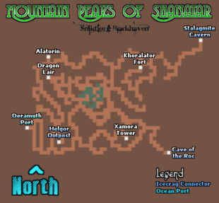 Mountain Peaks of Shanatar Map