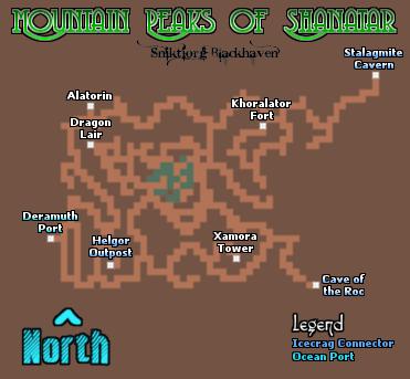 Mountain Peaks of Shanatar Map