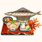 Grilled Sanma Charcoal Brazier Set (TMR)