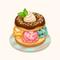 Colorful Ice Cream Donut Sandwich (TMR)
