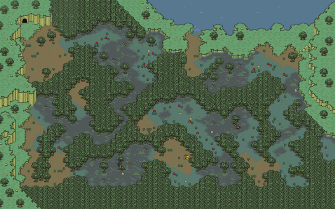 EarthBound Deep Darkness Map