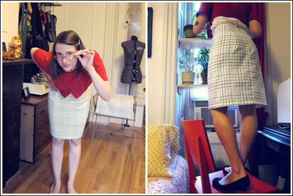 http://www.thezenofmaking.com/2011/05/pillowcase-pencil-skirt-tutorial