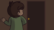 Trick or Threat - Edd arrives at door