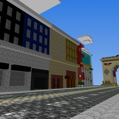 the main street with the molument