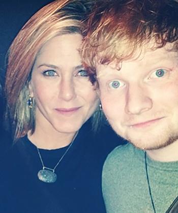 Image jennifer aniston ed sheeran ed - Ed sheeran give me love live room ...