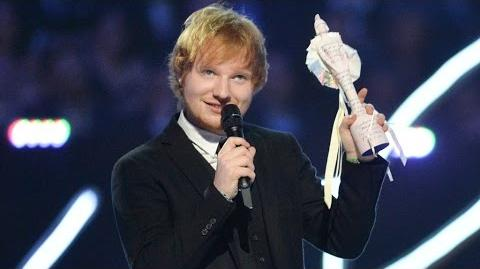 Ed Sheeran Wins British Male Solo Artist BRIT Awards 2015