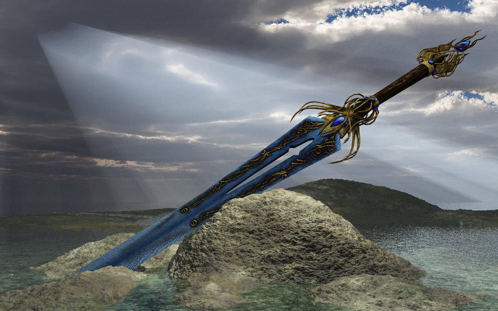 Sapphire sword