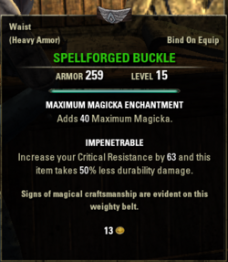 Spellforged buckle