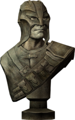 Bust of gray fox