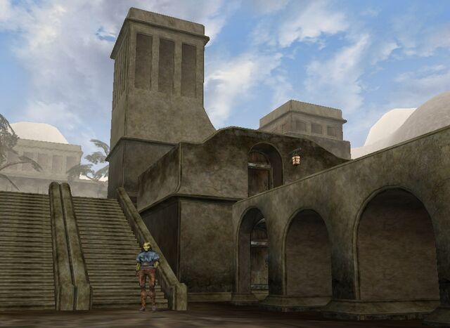 File:TES3 Morrowind - Balmora - The Razor Hole exterior.jpg