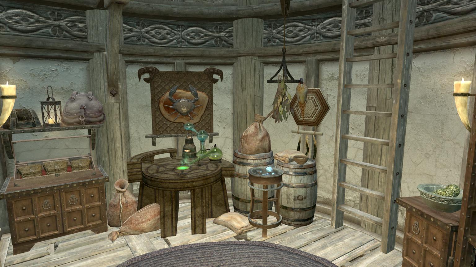 Skyrim House Trophy Room