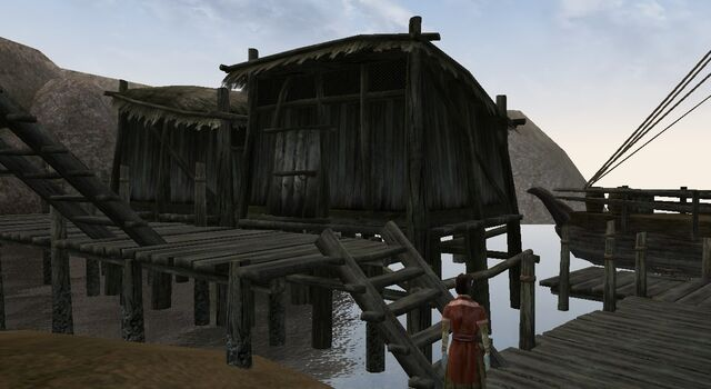 File:TES3 Morrowind - Ald Velothi - Vireveri Darethran's Shack exterior.jpg