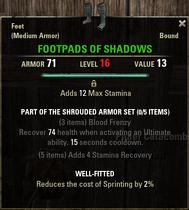 Shrouded Armor - Footpads 16