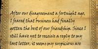 Letter from Christophe