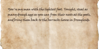 Note in a Dead Man's Hand