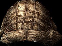 Fur helmet