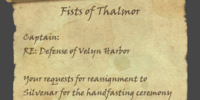 Fists of Thalmor (Note)