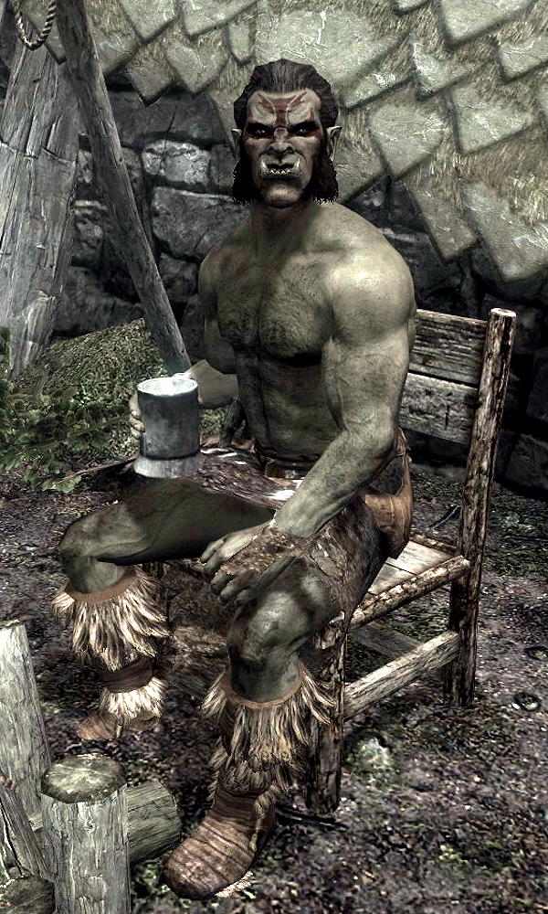 skyrim how to become orc chief