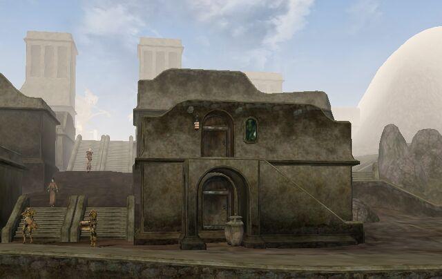 File:TES3 Morrowind - Balmora - Fast Eddie's House and Itan's House exterior.jpg