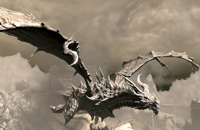 File:Alduin over Helgen.png