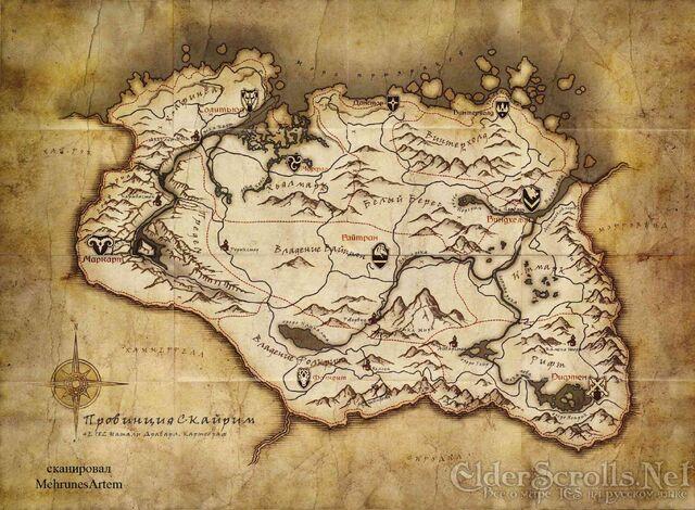 File:Pre order Skyrim map.jpg