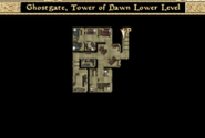 Ghostgate Tower of Dawn Lower Level Interior Map Morrowind