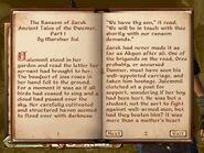 The Ransom of Zarek, Skill Book