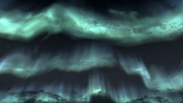 File:Skyrim Aurora outside High Hrothgar.png