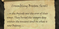 Crumbling Breton Scroll