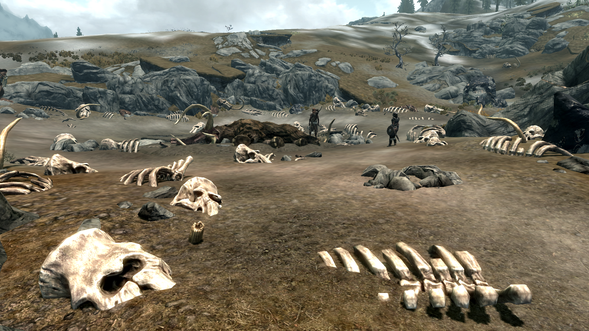 how to kill mammoths in skyrim