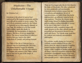 Mysticism - The Unfathomable Voyage, as seen in <i>The Elder Scrolls Online</i>