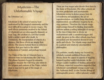 Mysticism - The Unfathomable Voyage, as seen in ''The Elder Scrolls Online''